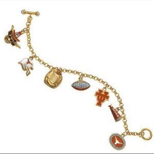 Texas Longhorns Charm Bracelet
